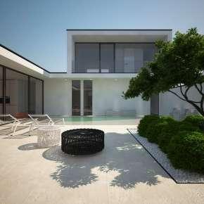 Проект дома с бассейном на участке в пять соток