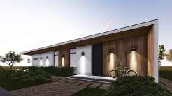 Проект современного одноэтажного дома с плоской крышей