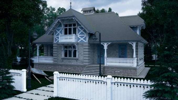 Проект дома в Викторианском стиле 2