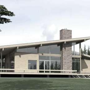 Проект дома с клееным деревянным каркасом