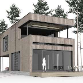 Проект небольшого дома из CLT-панелей