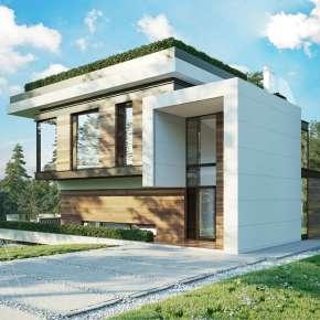 Проект модернистского дома под Калугой