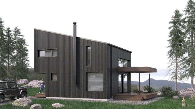 Проект типового минималистского домика