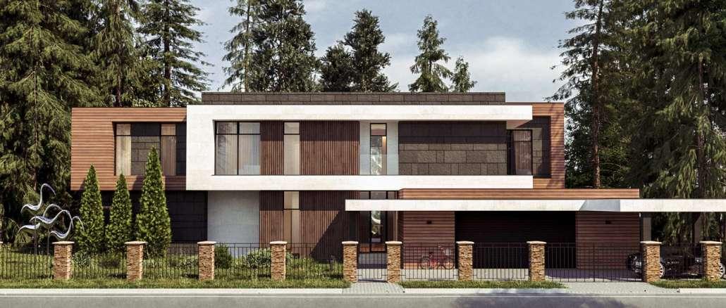 Проект модернистского дома в Подмосковье