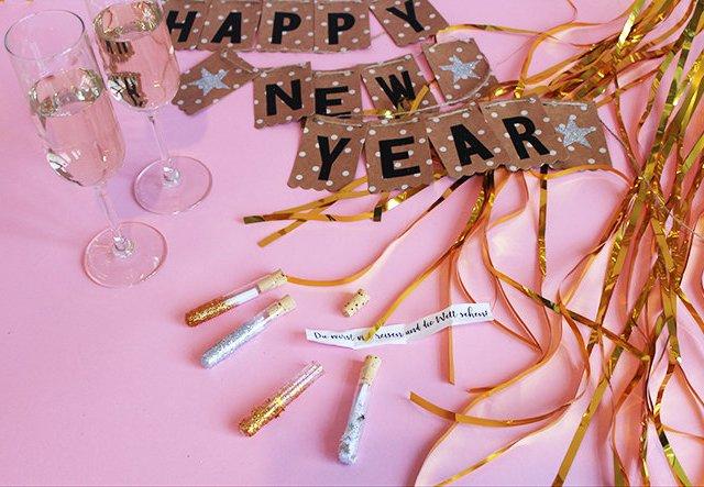 Happy 2018! Glücksbotschaften im Reagenzglas für Silvester basteln!