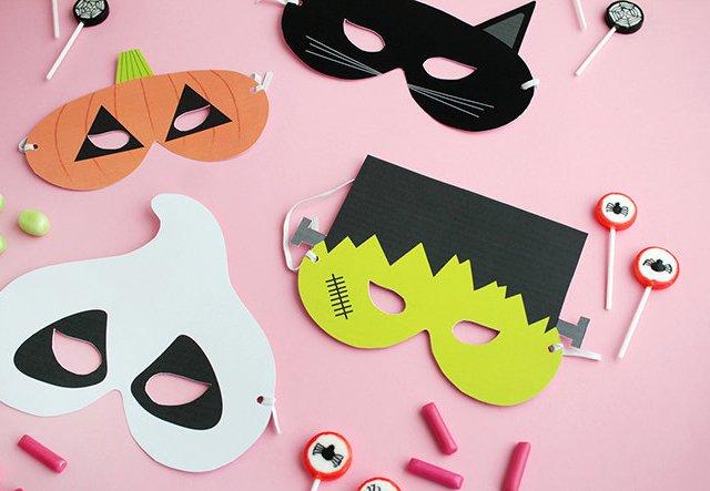 Gratis Printable: Halloween Masken