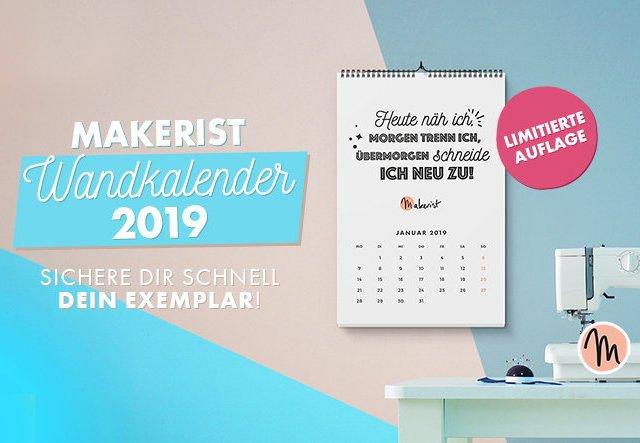 Makerist Monatswandkalender 2019