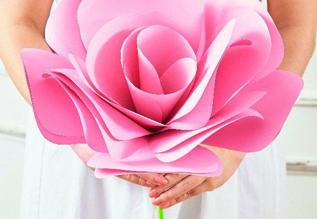 Deko-Rose am Stiel für Hochzeiten oder Partys