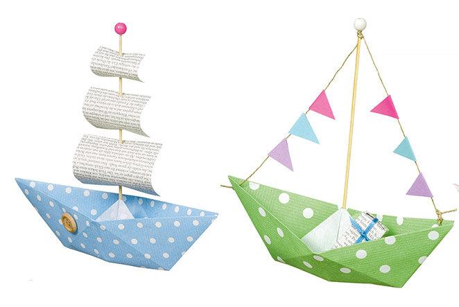Schiff Ahoi Papier Boote Für Den Kindergeburtstag Basteln