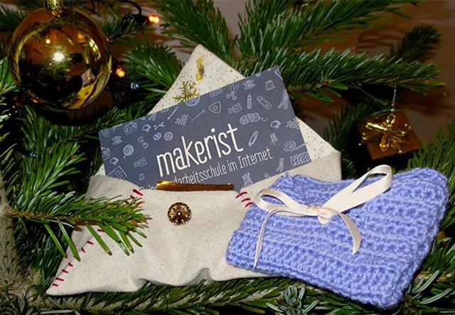 Festlich verpackt: Umschlag für Weihnachten nähen!