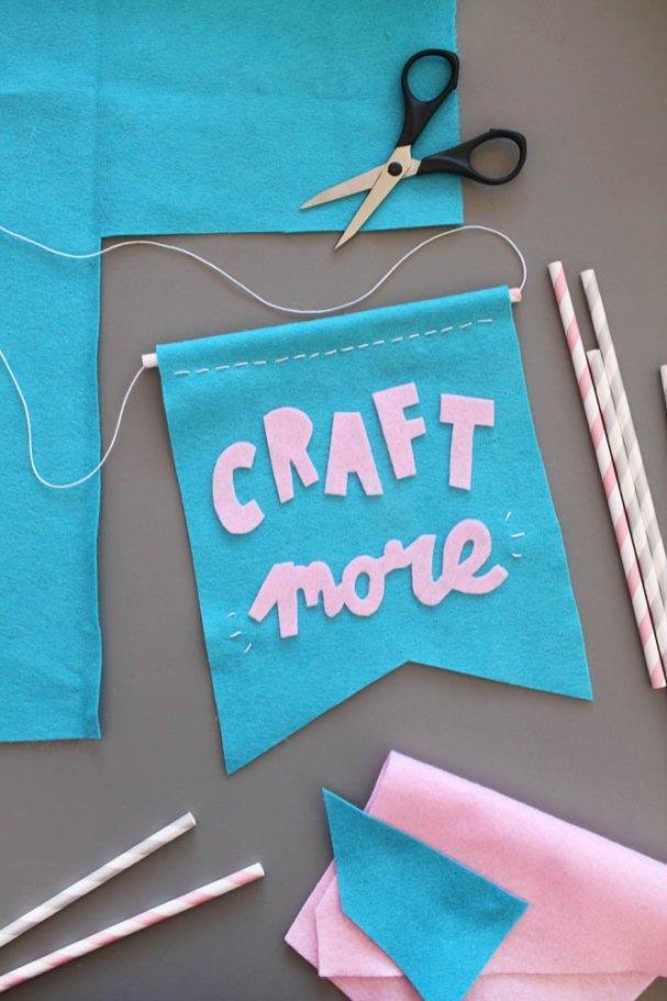Makerist-Basteln-mit-Kindern-50-DIY-Projekte-Filz-Wimpel