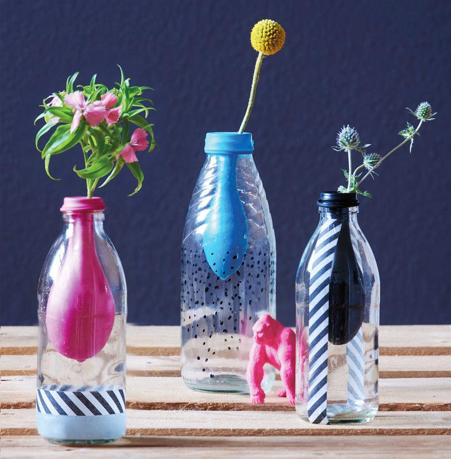 Makerist-Basteln-mit-Kindern-50-DIY-Projekte-Luftballon-Vase