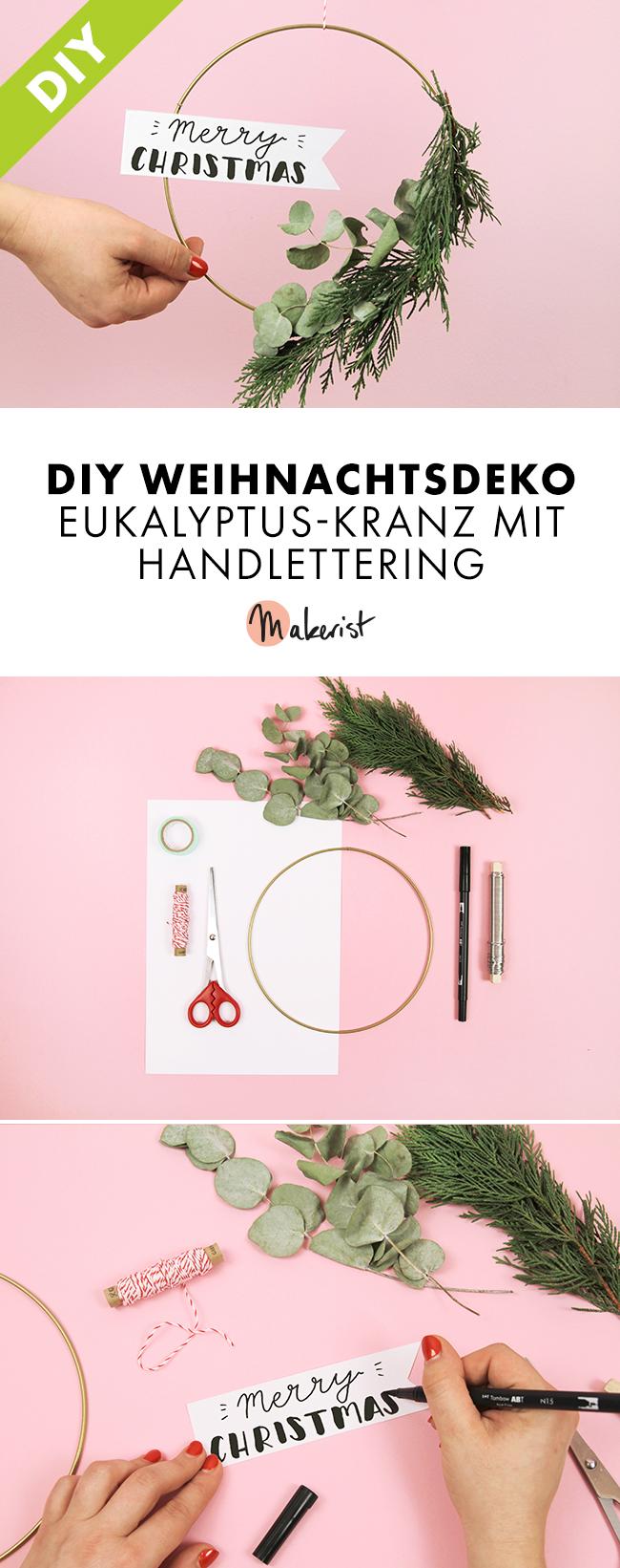 Makerist-Weihnachtsdeko-Eukalyptus-Kranz-Pin-1