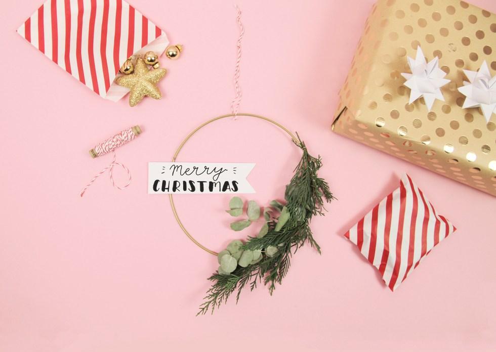 Makerist-Weihnachtsdeko selbermachen-Eukalyptus-Kranz mit weihnachtlichem Handlettering basteln (7)