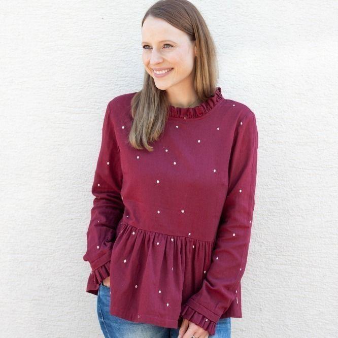 Makerist-Festliche-Kleidung-für-die-Feiertage-selber-nähen-19-Anleitungen-mit-Schnittmuster-Bluse-Clara