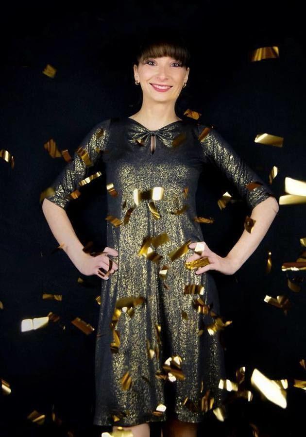 Makerist-Festliche-Kleidung-für-die-Feiertage-selber-nähen-19-Anleitungen-mit-Schnittmuster-Goldregen-Raffiniertes-Abendkleid