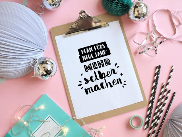 Gratis Typo-Printable: Sprüche für Silvester und das neue Jahr