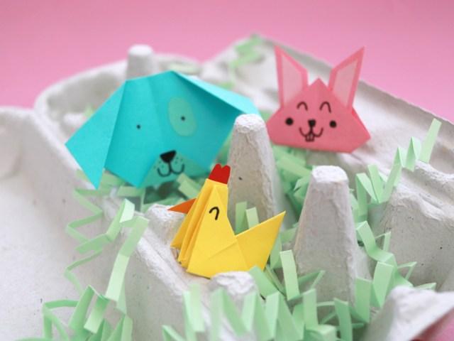 Origami-Tiere falten – Hase, Hund und Huhn (Foto DIY und Video DIY)