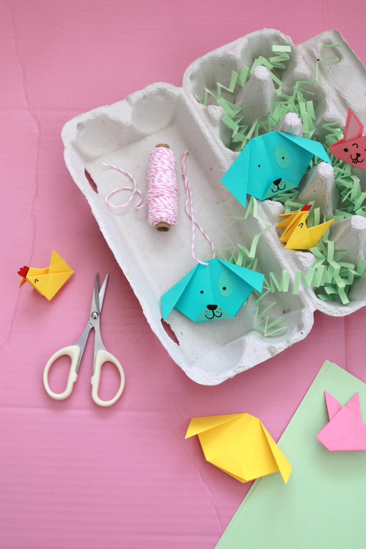Makerist-DIY-Origami-Tiere-falten-Hase-Hund-Huhn-44