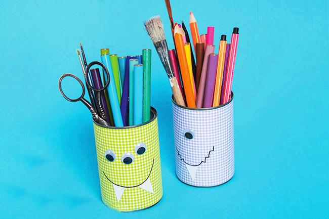 Nähen-und-Basteln-mit-Kindern-17-einfache-Projekte-für-die-Tage-Zuhause-Stiftehalter-aus-Konserven-1