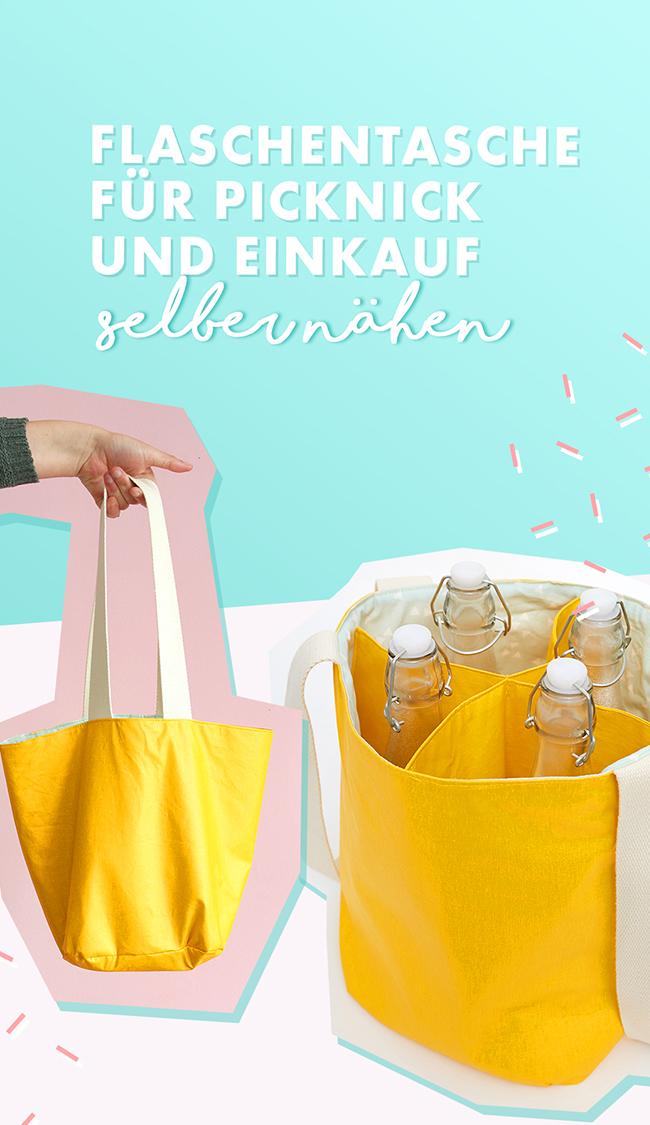 Makerist-Flaschentasche-für-Picknick-und-Einkauf-selber-nähen-Pins-1