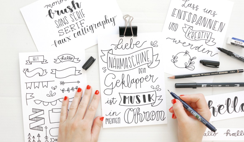 Makerist-Lettering-Basics-Stifte-Handlettering-Brush-Lettering-Fake-Calligraphy-1-1