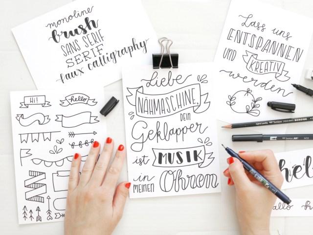 Lettering Basics – Stifte, Handlettering, Brush Lettering & Fake Calligraphy