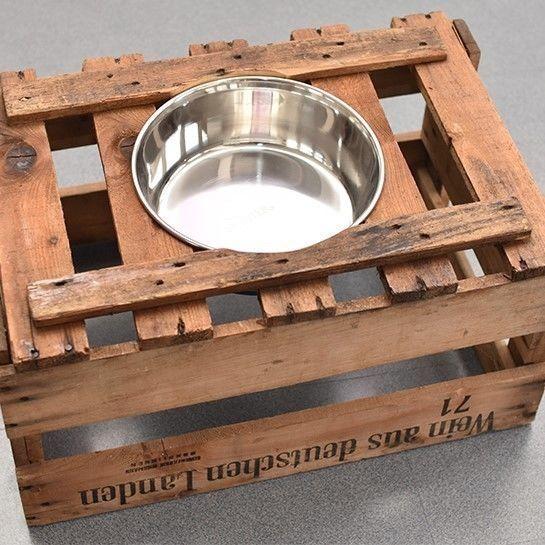 Makerist-Naehen-fuer-Hunde-17-tolle-Accessoires-fuer-Vierbeiner-Hundenapf-aus-Weinkiste