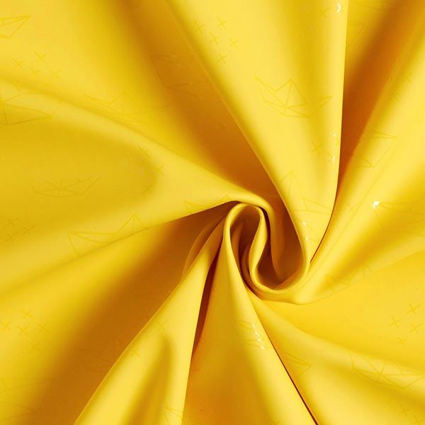 Makerist-Regenjackenstoff-Origami-gelb