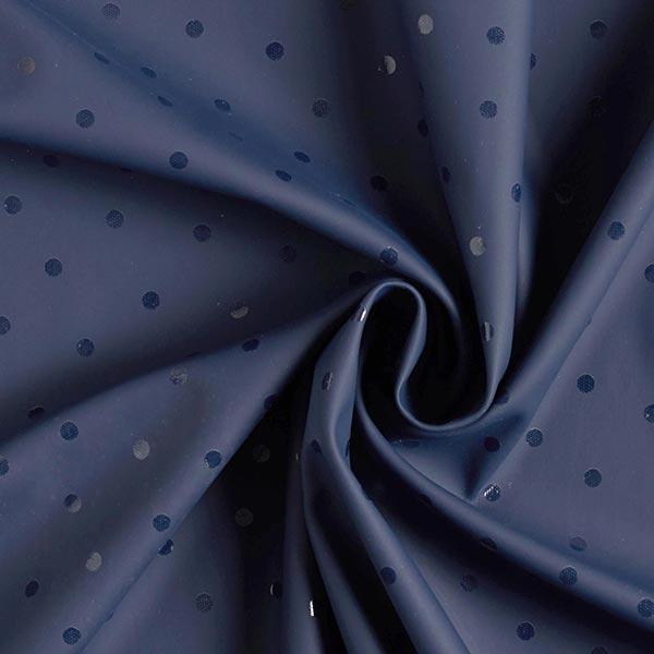 Makerist-Regenjackenstoff-Punkte-marineblau