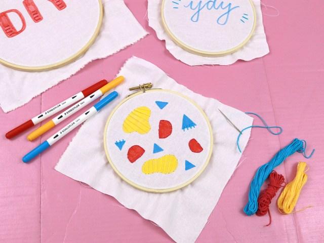 Makerist-DIY-Stickrahmen-mit-Textilfasermalern-und-Stickerei-gestalten-1