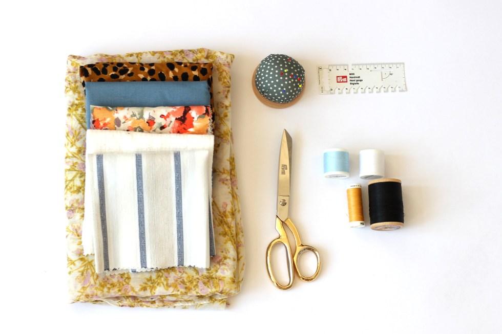 Haarbänder-nähen-Materialien