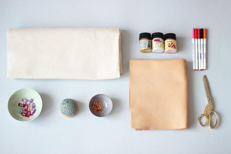 Lunchbag-naehen-Materialien