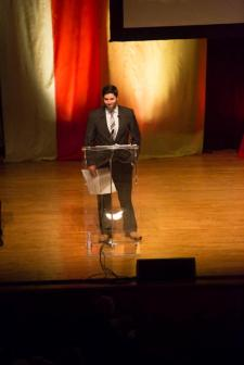 Liam Casey on stage at the 35th National Magazine Awards gala