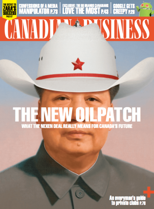 """""""The New Oilpatch"""" - Canadian Business, Art Direction by John Montgomery"""