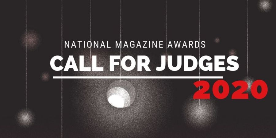 National Magazine Awards 2020 call for judges header image.