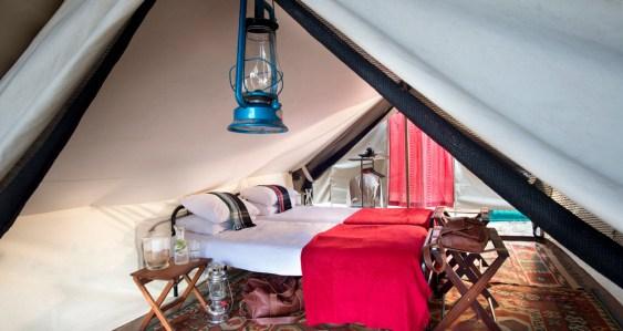 Interior to Tanda Tula Field Camp tents