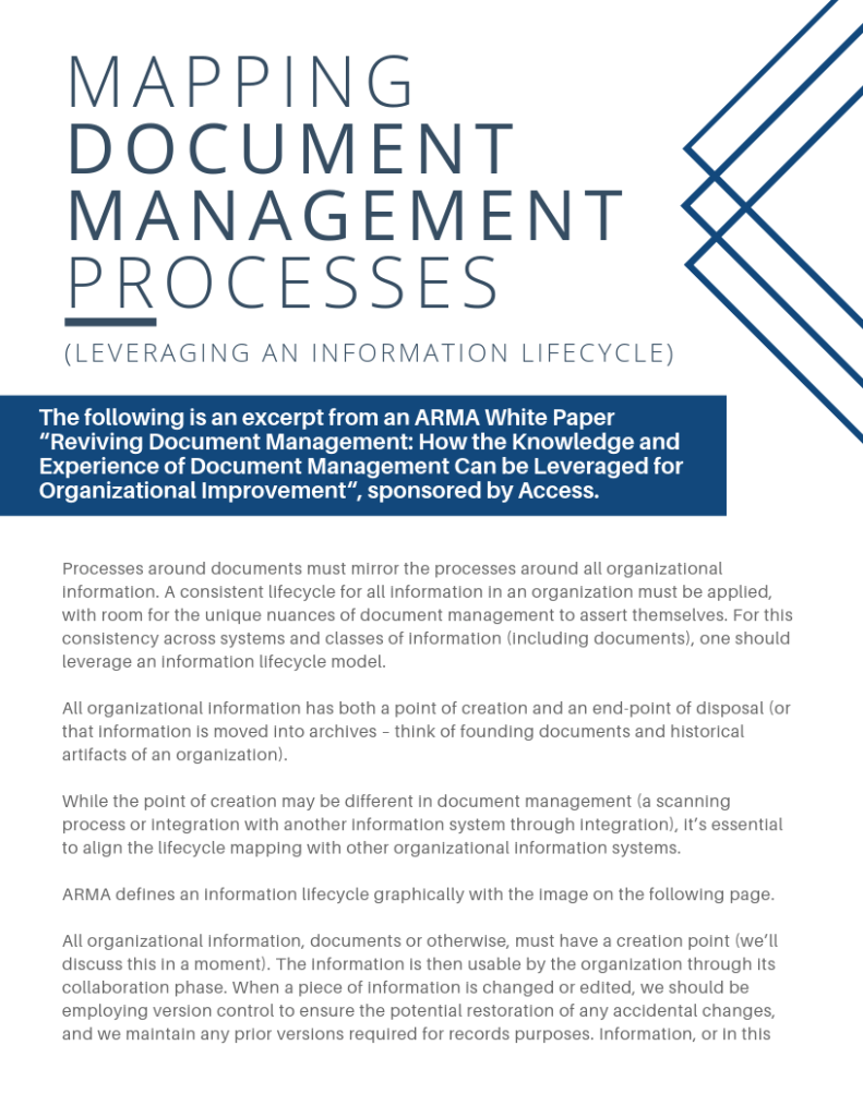 Mapping Document Management Processes