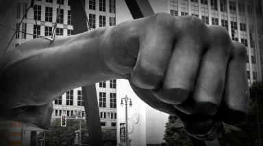 Detroit landmark, Joe Louis Fist Statue