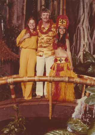 Duringa Pan Am layover in Tahiti.