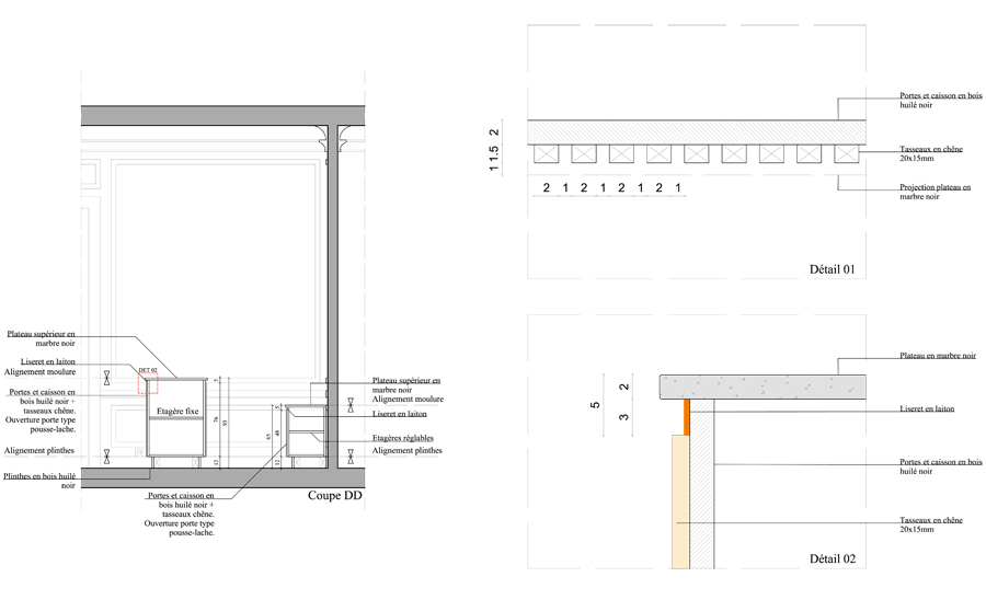 plan appartement bar