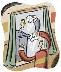 washing windows cartoon
