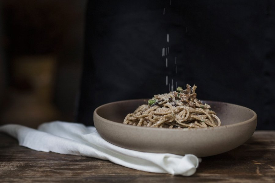 Signature Mixed Mushroom Linguine | Image courtesy of Grassroots Pantry