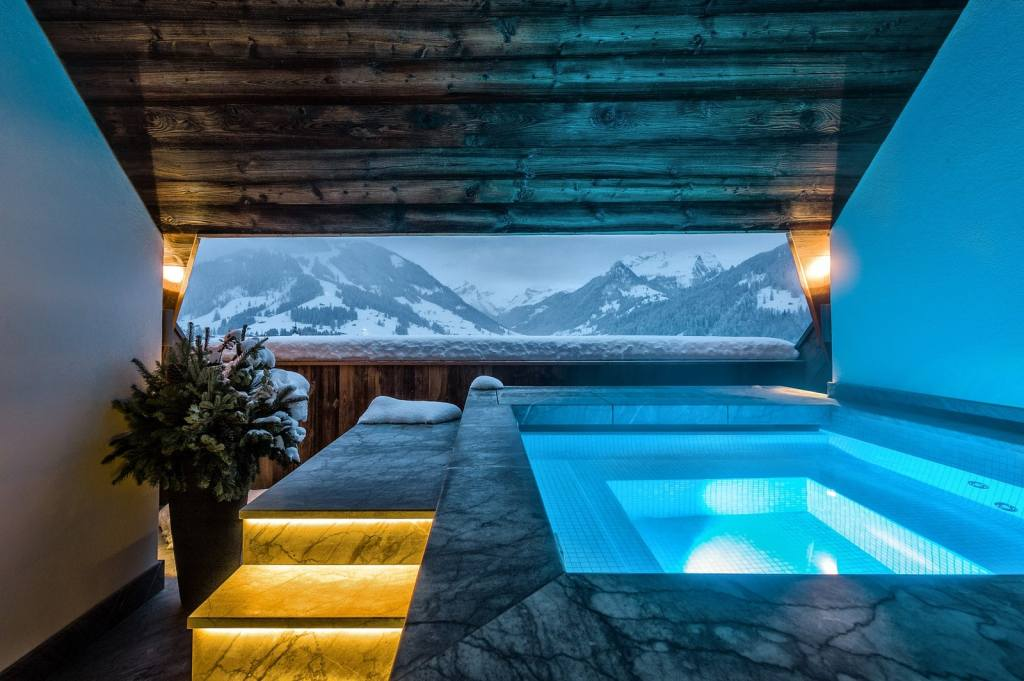 The Alpina Gstaad swiss resort spa, white desert, antarctica, snowy winter retreats, snowy luxury wellness retreats, winter wonderland