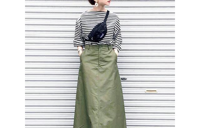 b815d0f3017200 カーキのロングスカートが可愛い! 2018年春夏おすすめ・カーキロングスカートコーデ10選♥ | #CBK magazine