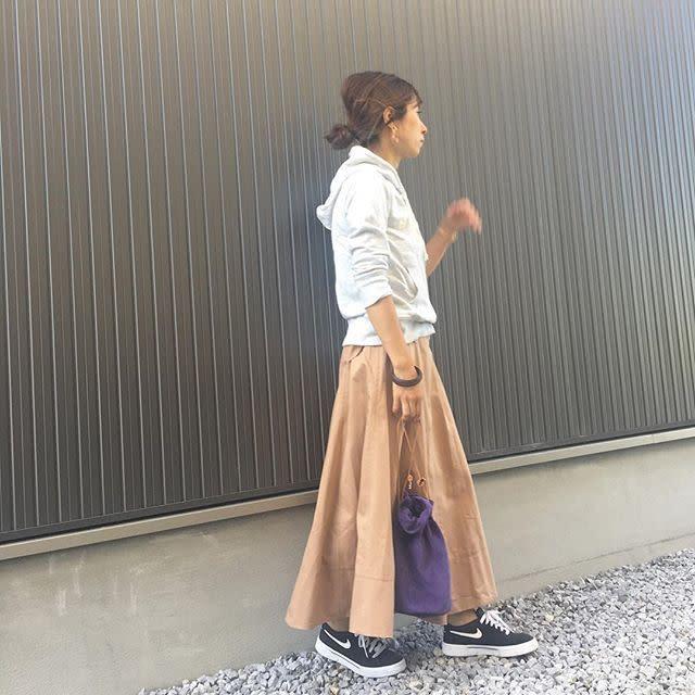 パーカー スカート