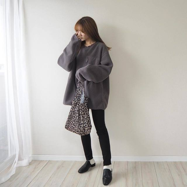おしゃれな人は【GUのメンズ】を着る。natsumiさんのプチプラコーデ4選/メンズフリースはダボッとしたサイズ感がおしゃれの秘けつ!