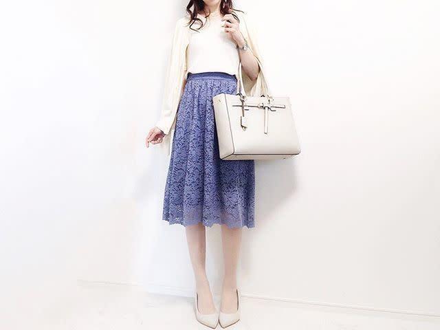 婚活OKな「美フレアスカート」を探せ! ちょうどいいデザインの法則/「レース素材のフレアスカート」で上品さをプラス