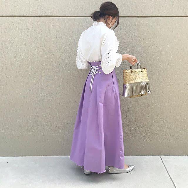 2021年2月のレディースファッショントレンド【ラベンダー】