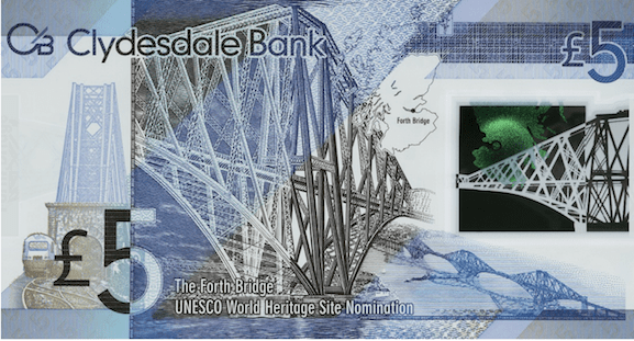 Clydesdale bank note